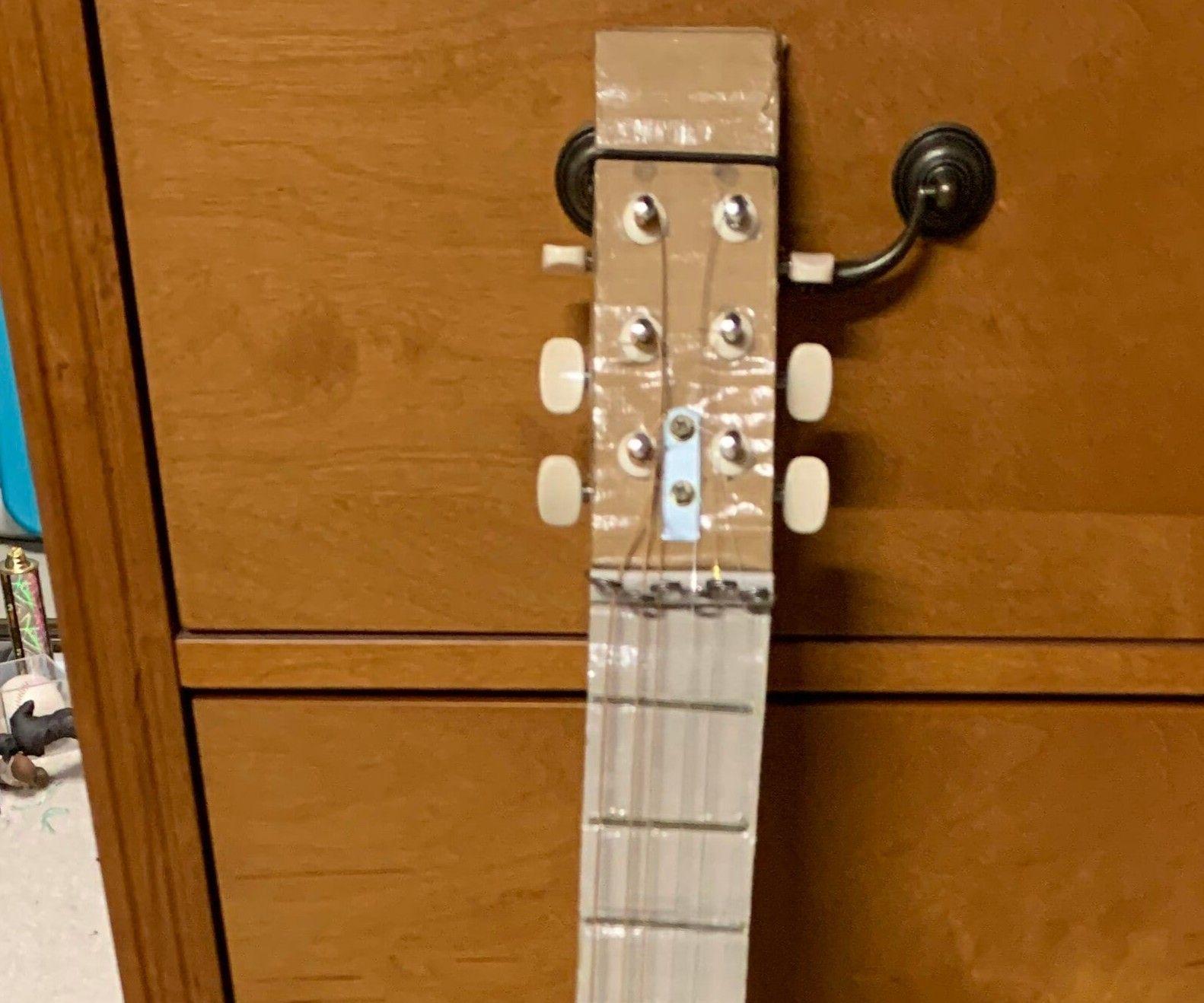 Working Cardboard Guitar
