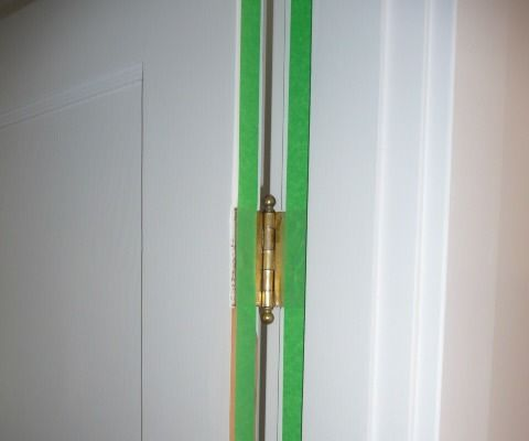 Find and Remove High Spots From the Hinge Side of a Door.