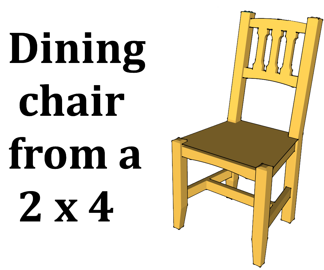 Dining Chair From A 2x4 9 Steps With Pictures Instructables