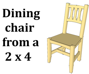 Dining Chair From a 2x4