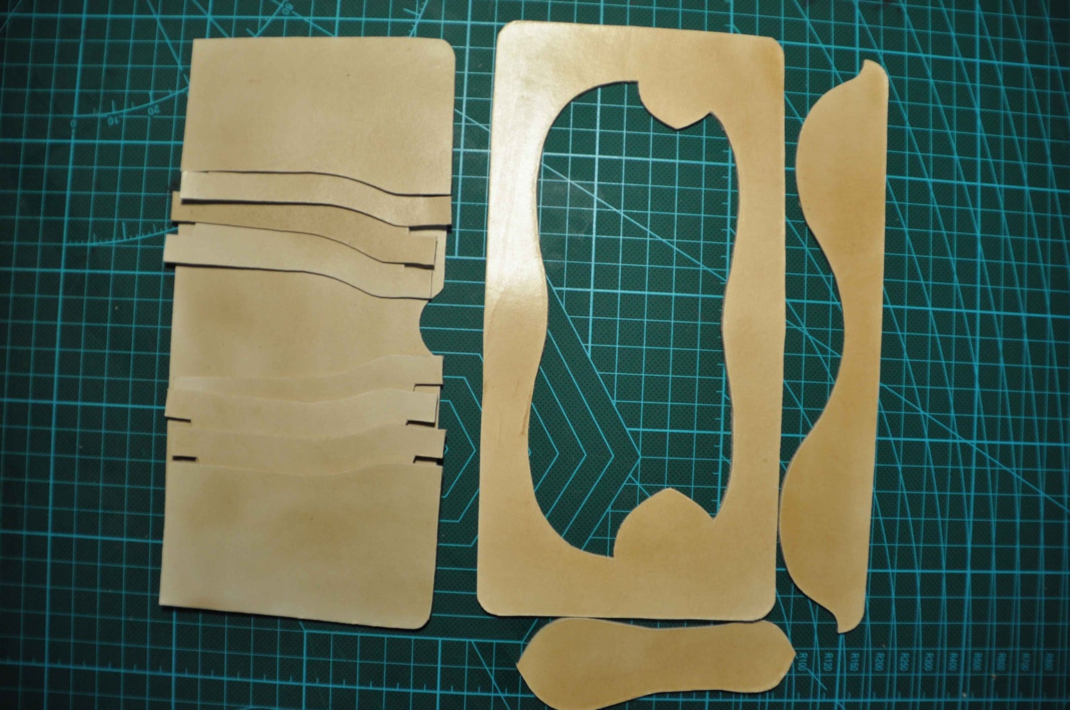 Cut Off the Drew Pieces With Scissors and Knife.