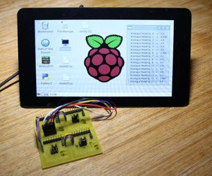 Raspberry Pi Analogue to Digital A/D Conversion Board and GUI Voltage Display