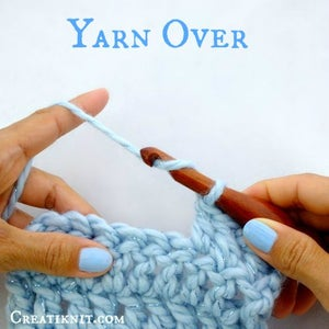 I Am Going to Work My Next Double Crochet, So Yarn Over With the Yarn You've Been Using.