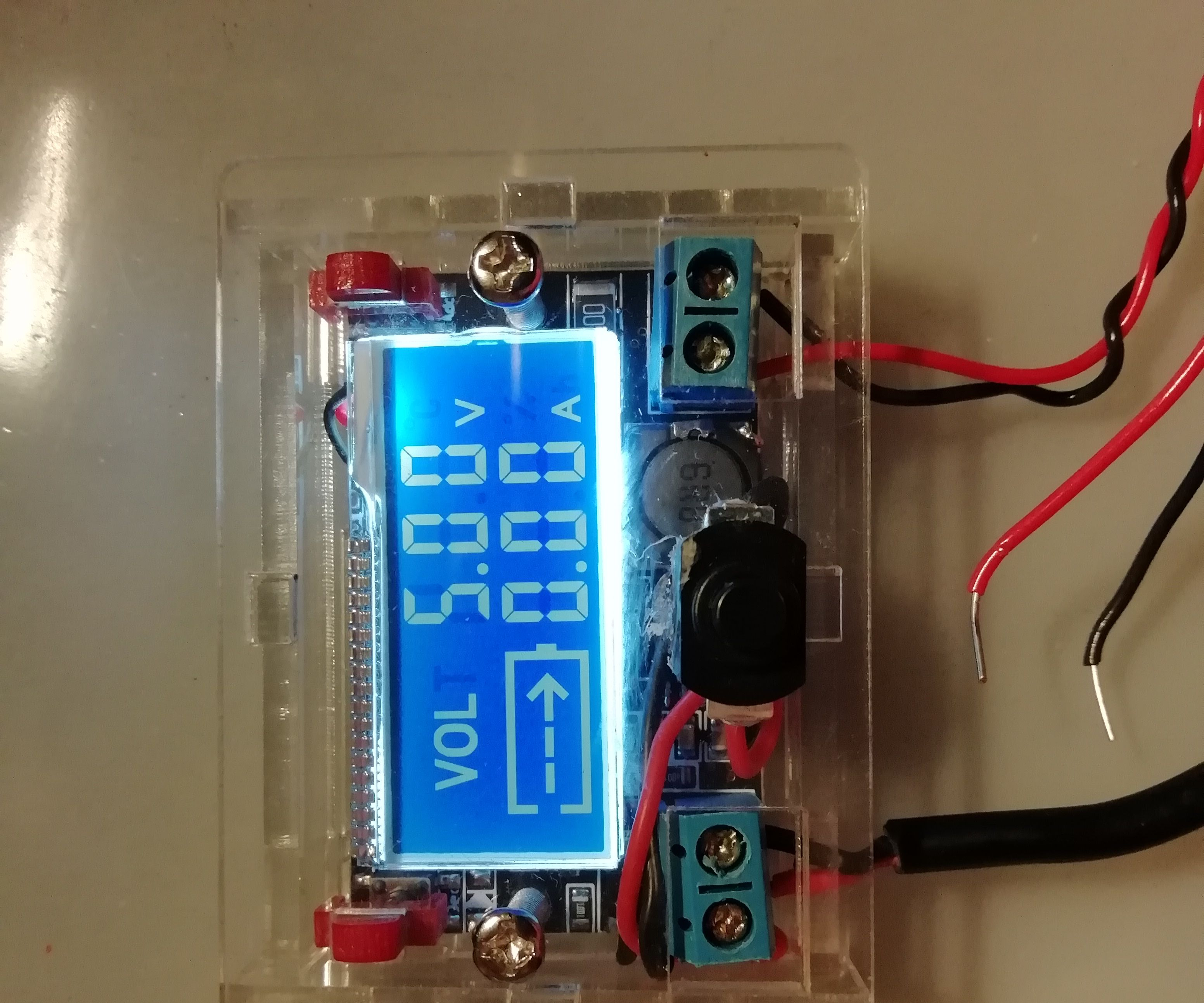 Adjustable LCD Breadboard Power Supplly