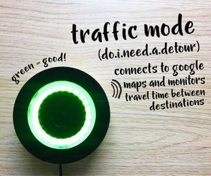 Commute Travel Time LED Indicator