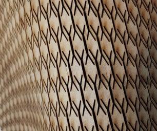 弯曲的激光弯曲木材