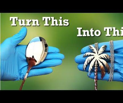 Turn a Spoon Into a Palm Tree Necklace