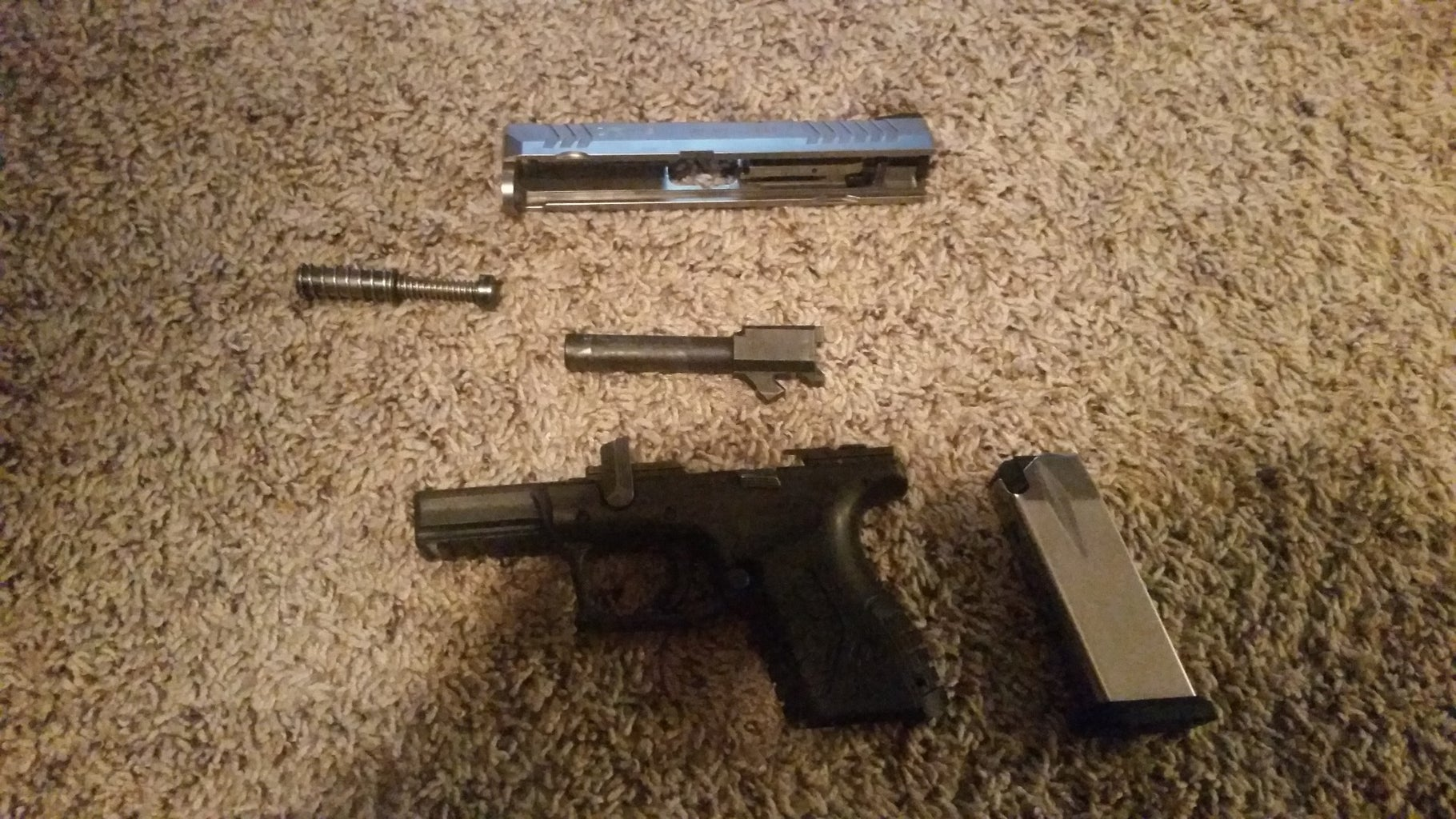 Re-assembly of a Springfield XDM