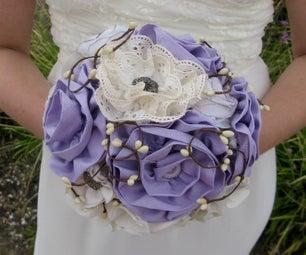 Fabric Wedding/Bridal Flower Bouquet