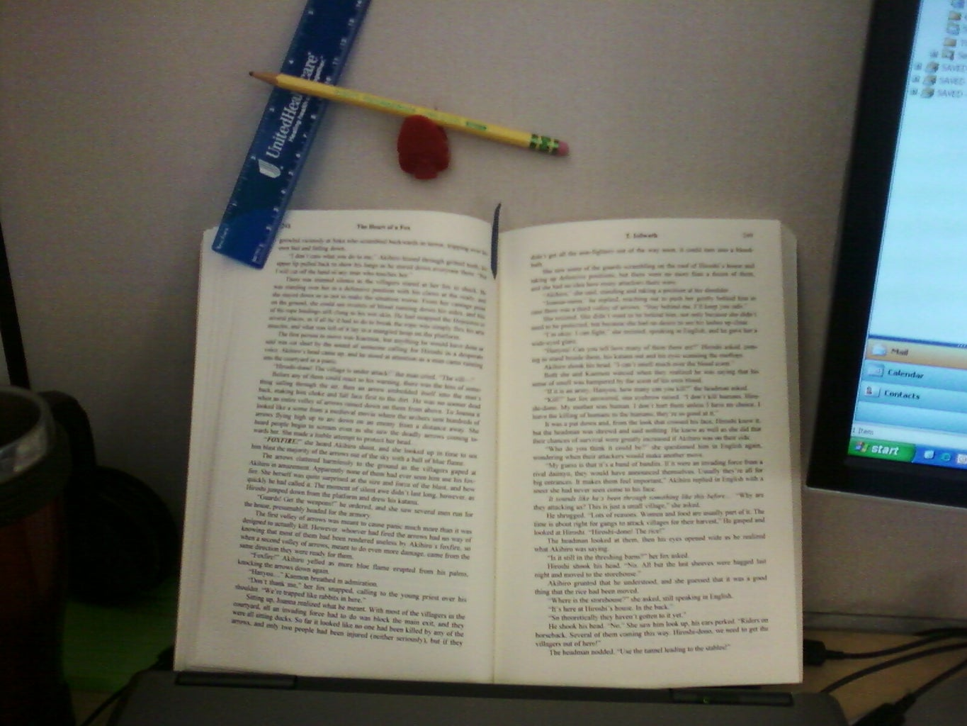 Book Holder With Office Supplies