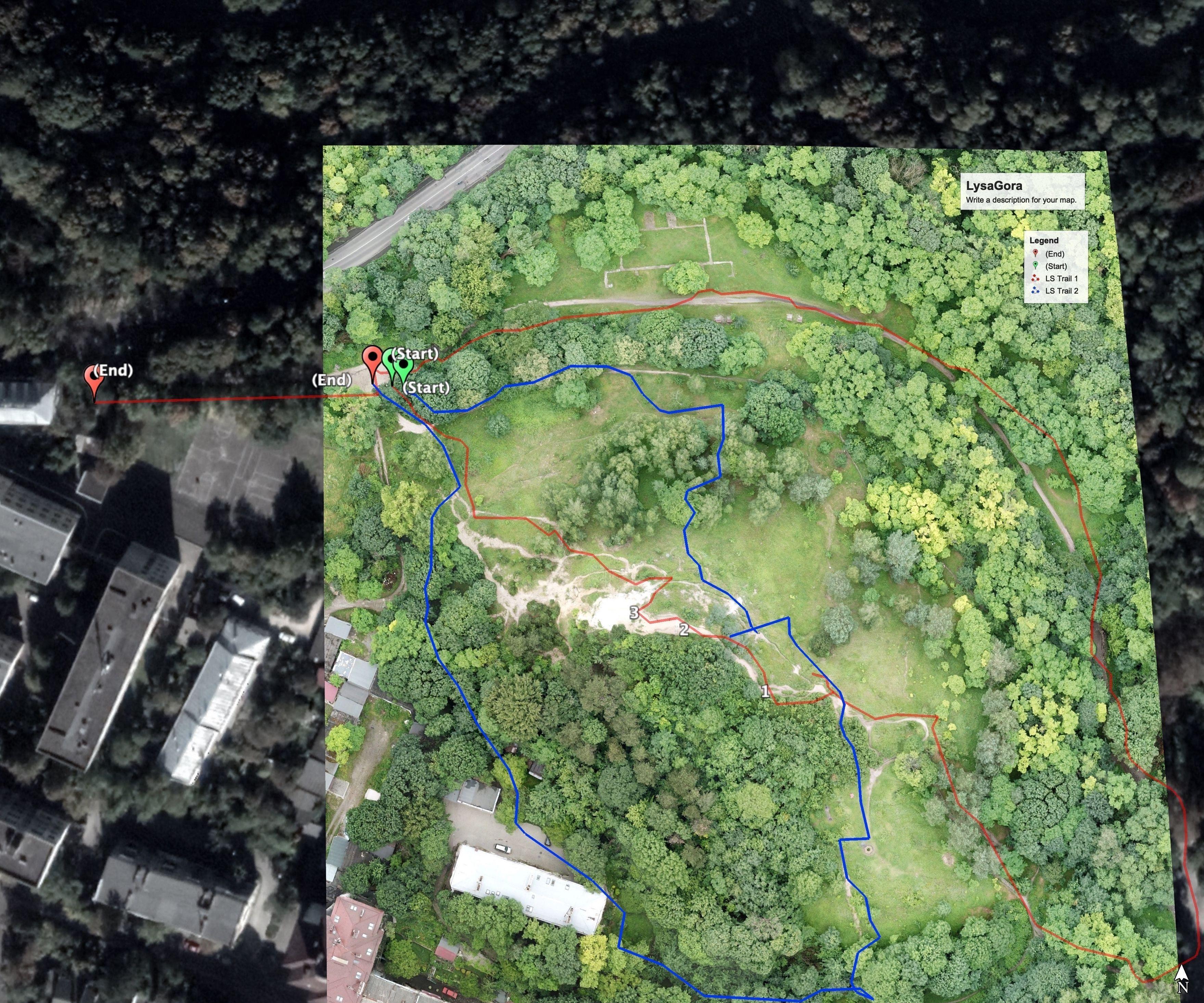 Custom High Resolution Hiking Etc Map