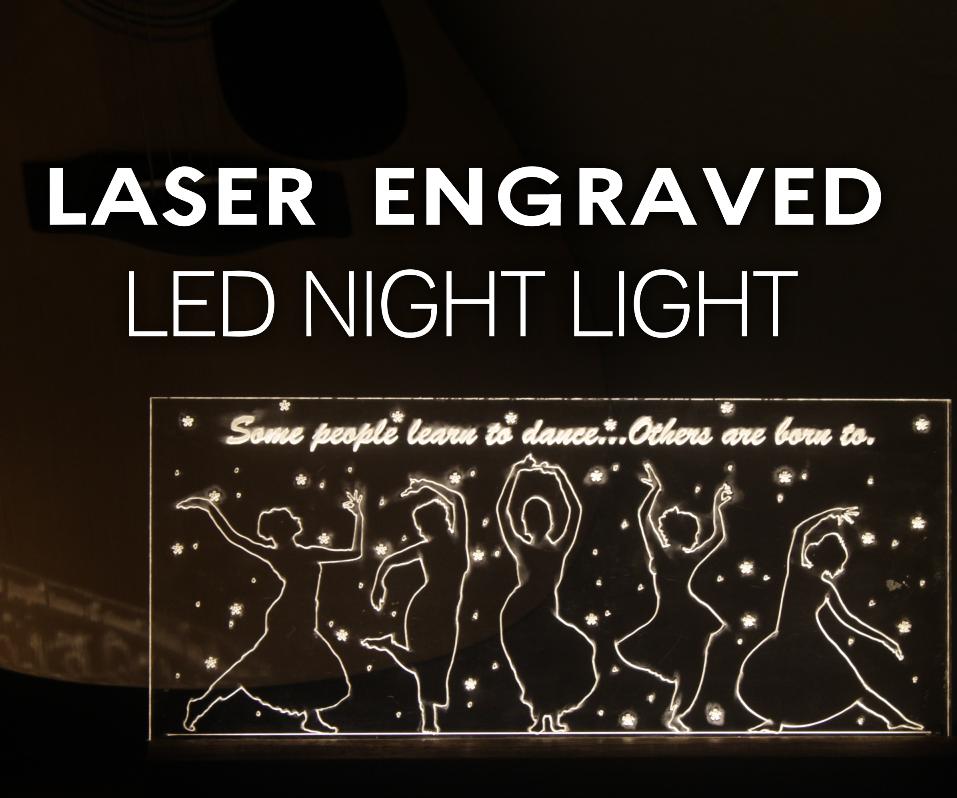 Laser Engraved LED Night Light