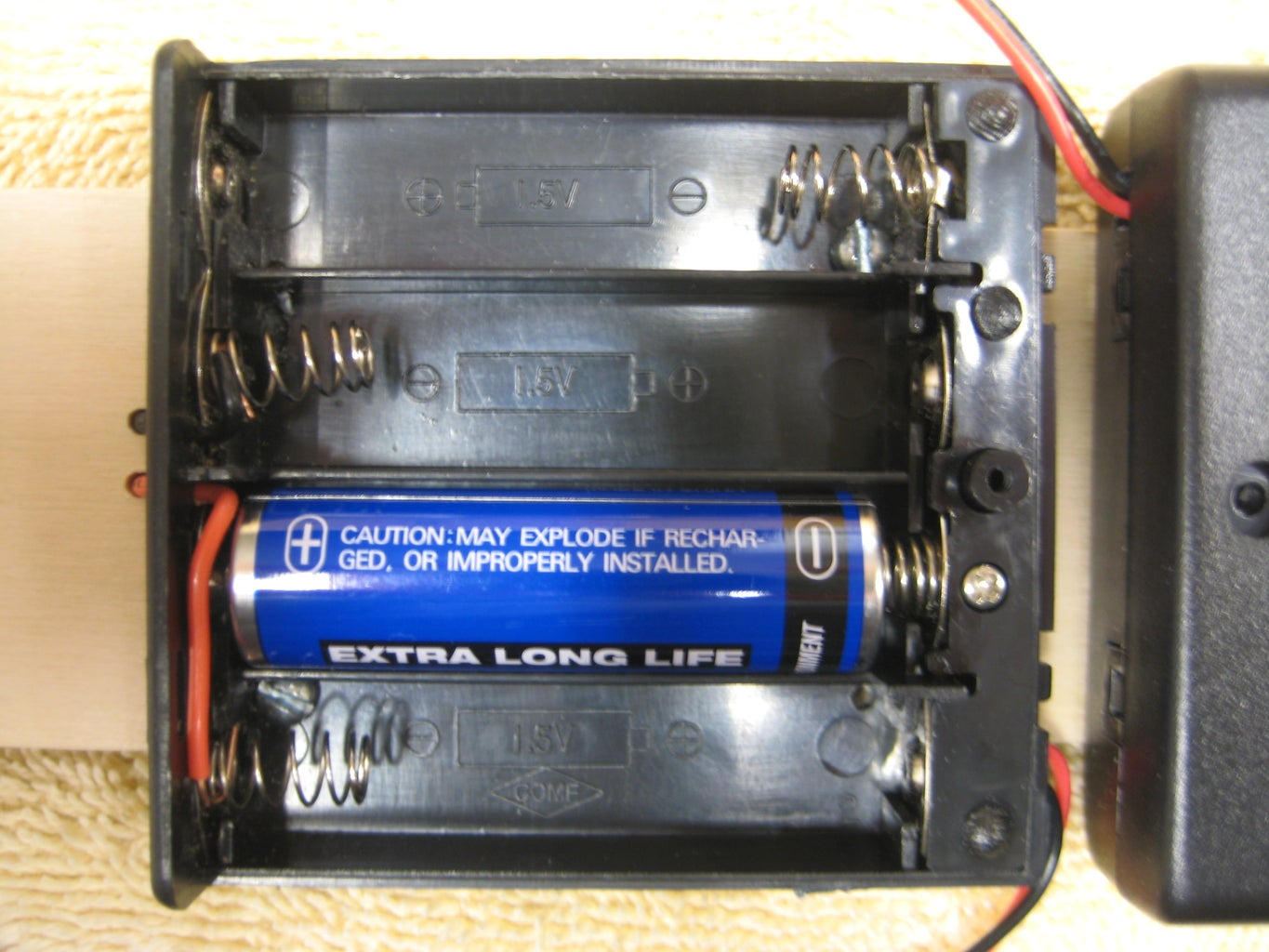 Add the Battery Holders