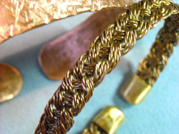 Copper Bracelets Made From Scrap Wires