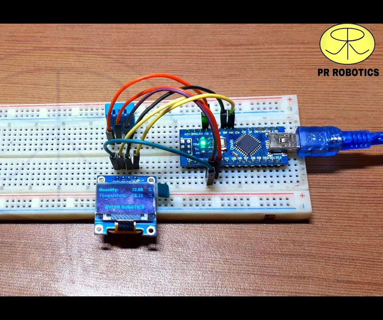 Temperature and Humidity Meter Using OLED Display