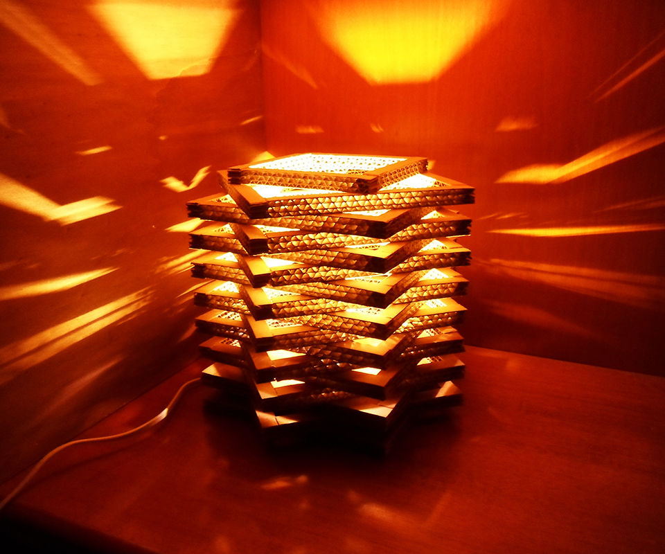 Cardboard Table Lamp