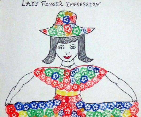 Lady Finger Impression Painting