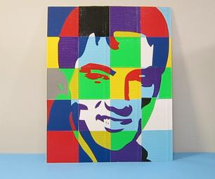 Duct Tape Pop Art Portrait:  Elvis