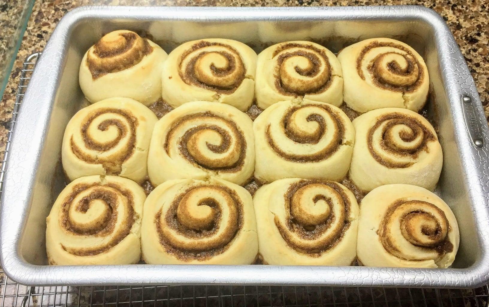 Glaze Your Cinnamon Rolls and Enjoy!