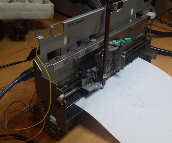 Reuse Old Fax As a Plotter