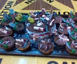 The Halloween Graveyard Cupcakes