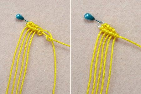 Start to Make the Macramé Spiral Earrings