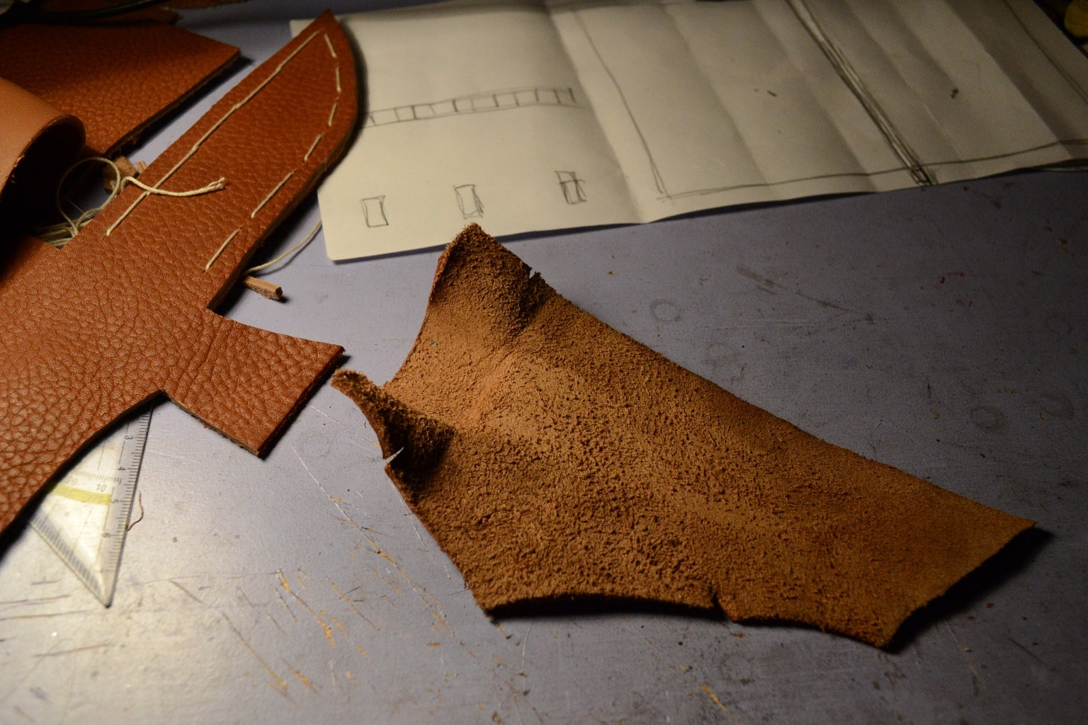 Forming the Leather