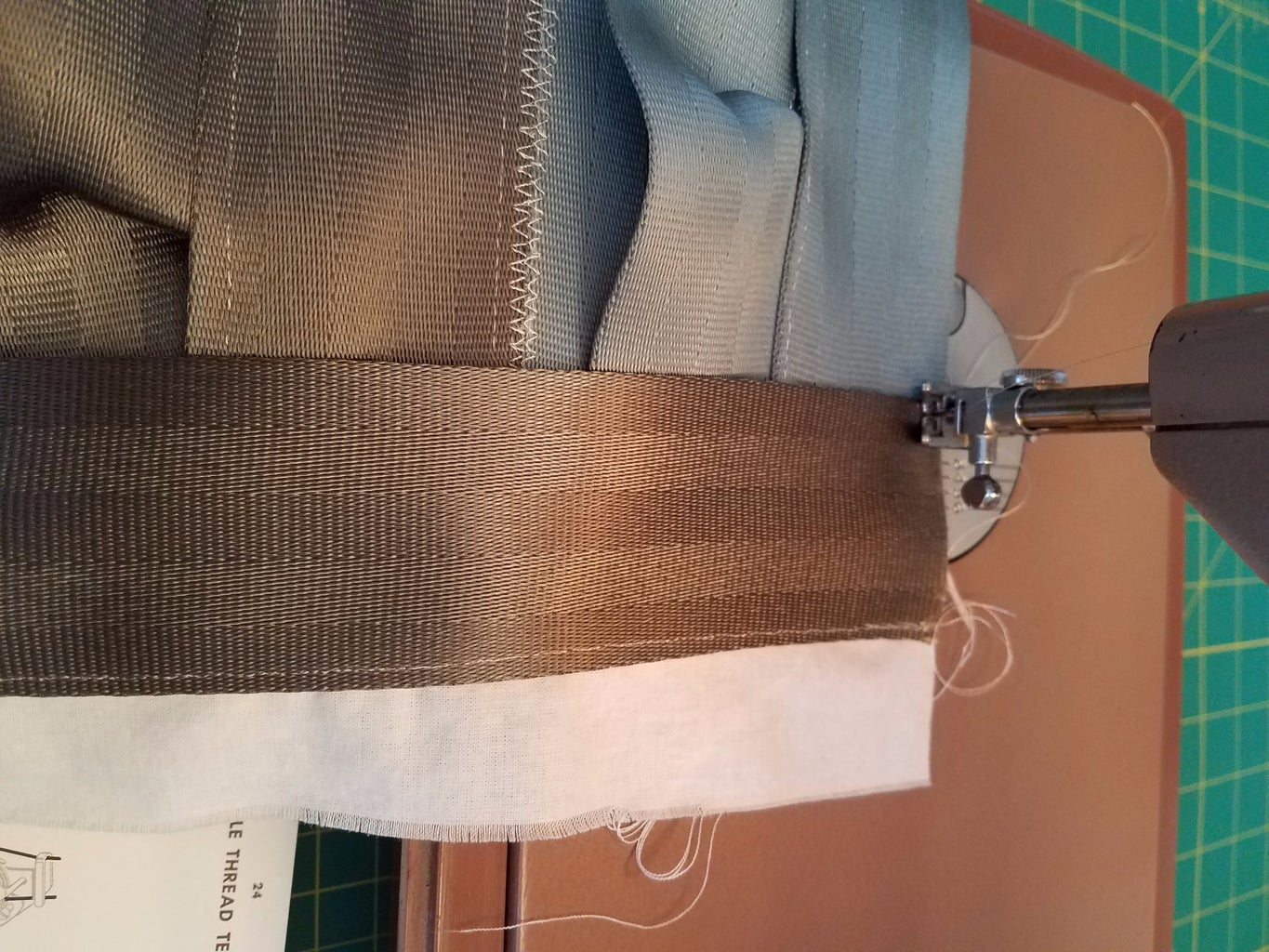 Sew Sides on Front and Back of Bag
