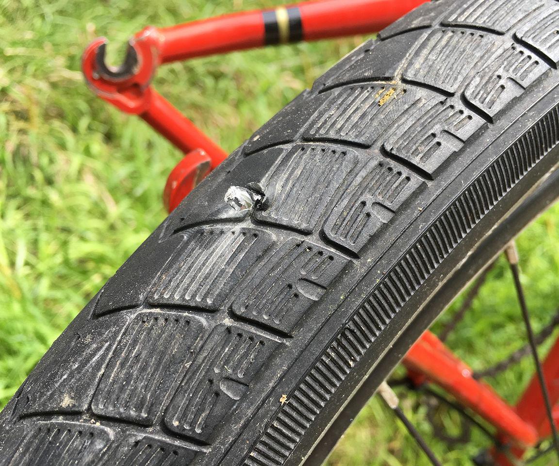 Bike Tire Blowout! Fix-a-Flat