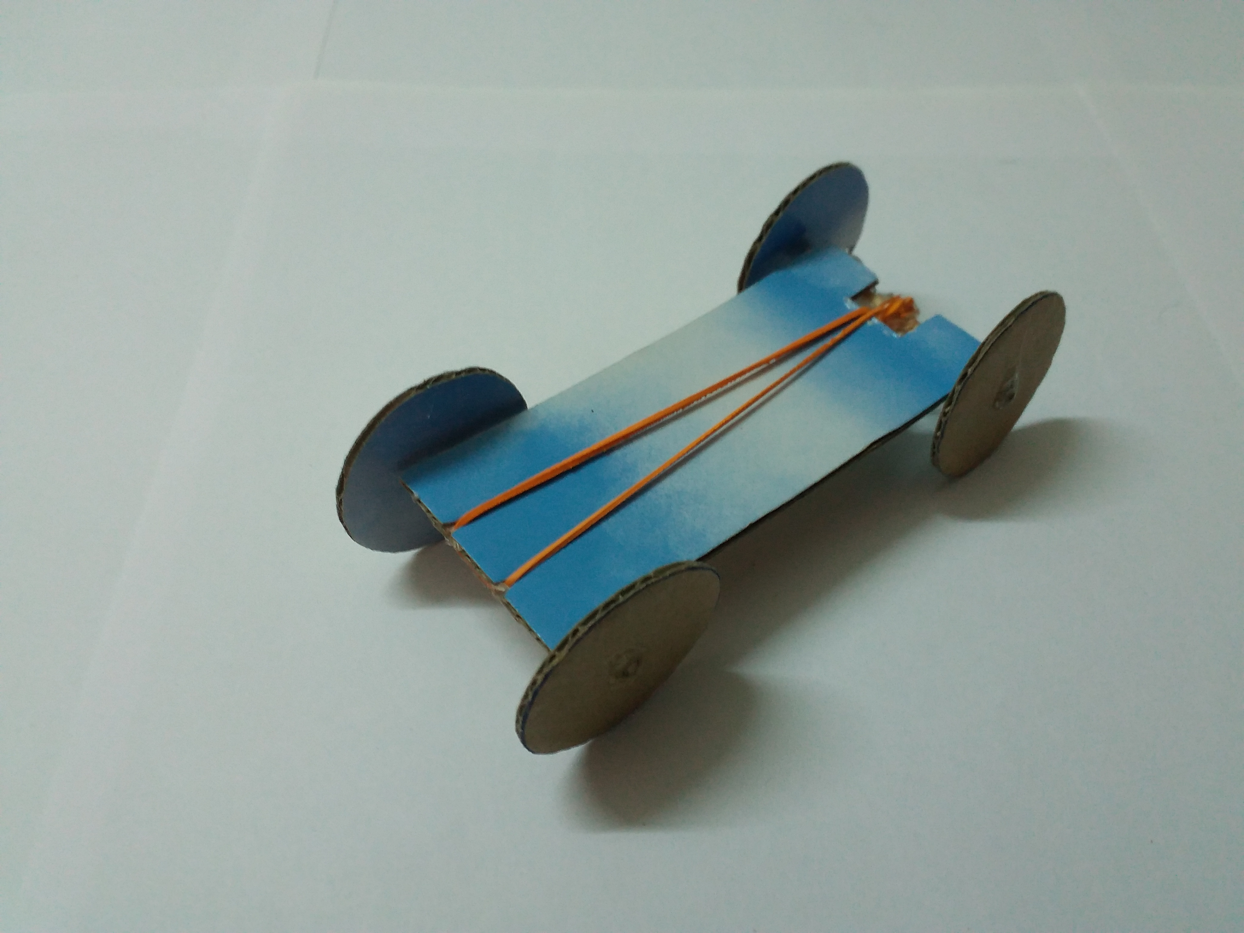 Cardboard Rubberband Car