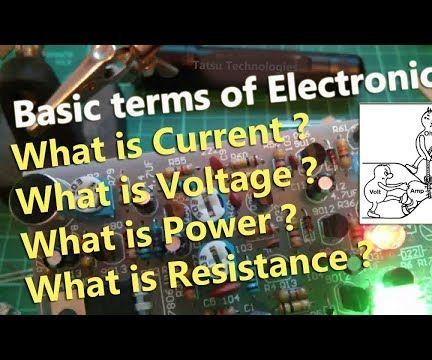 Introduction to Voltage, Current, Resistance and Power Explained for Beginner