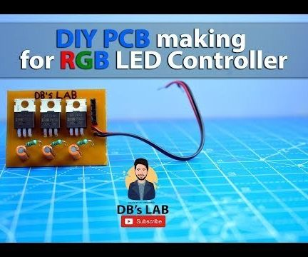 DIY PCB Making for RGB LED