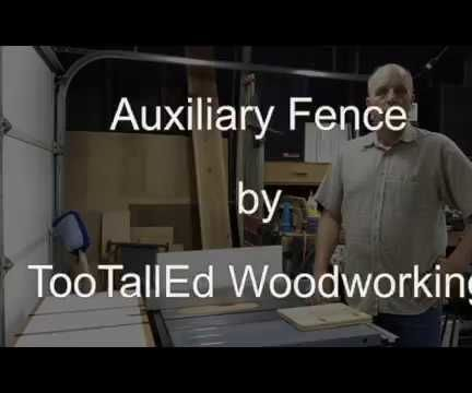Auxiliary Fence for Table Saw