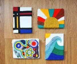 DIY Yarn Art | Easy Tactile Canvas 'Paintings'
