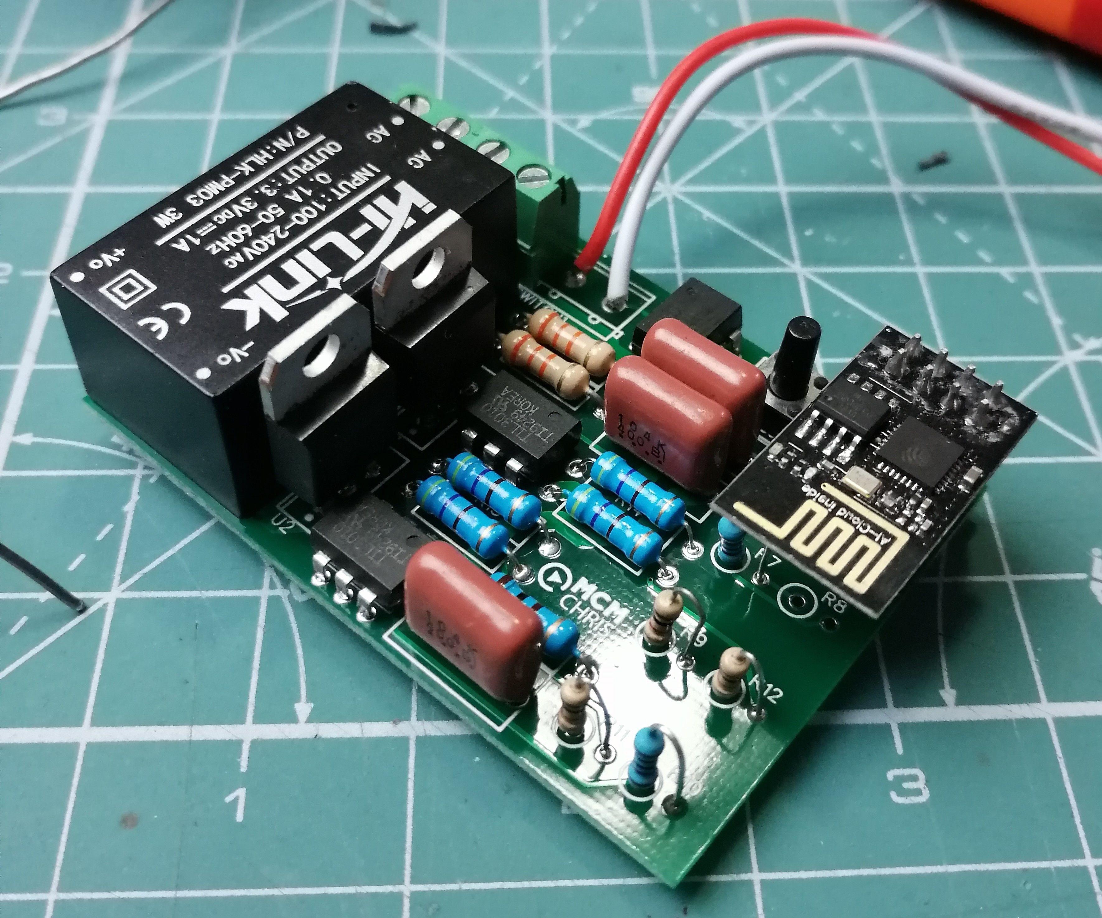 Light Switch + Fan Dimmer in One Board With ESP8266
