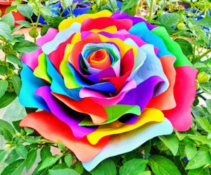 Handmade Rainbow Rose