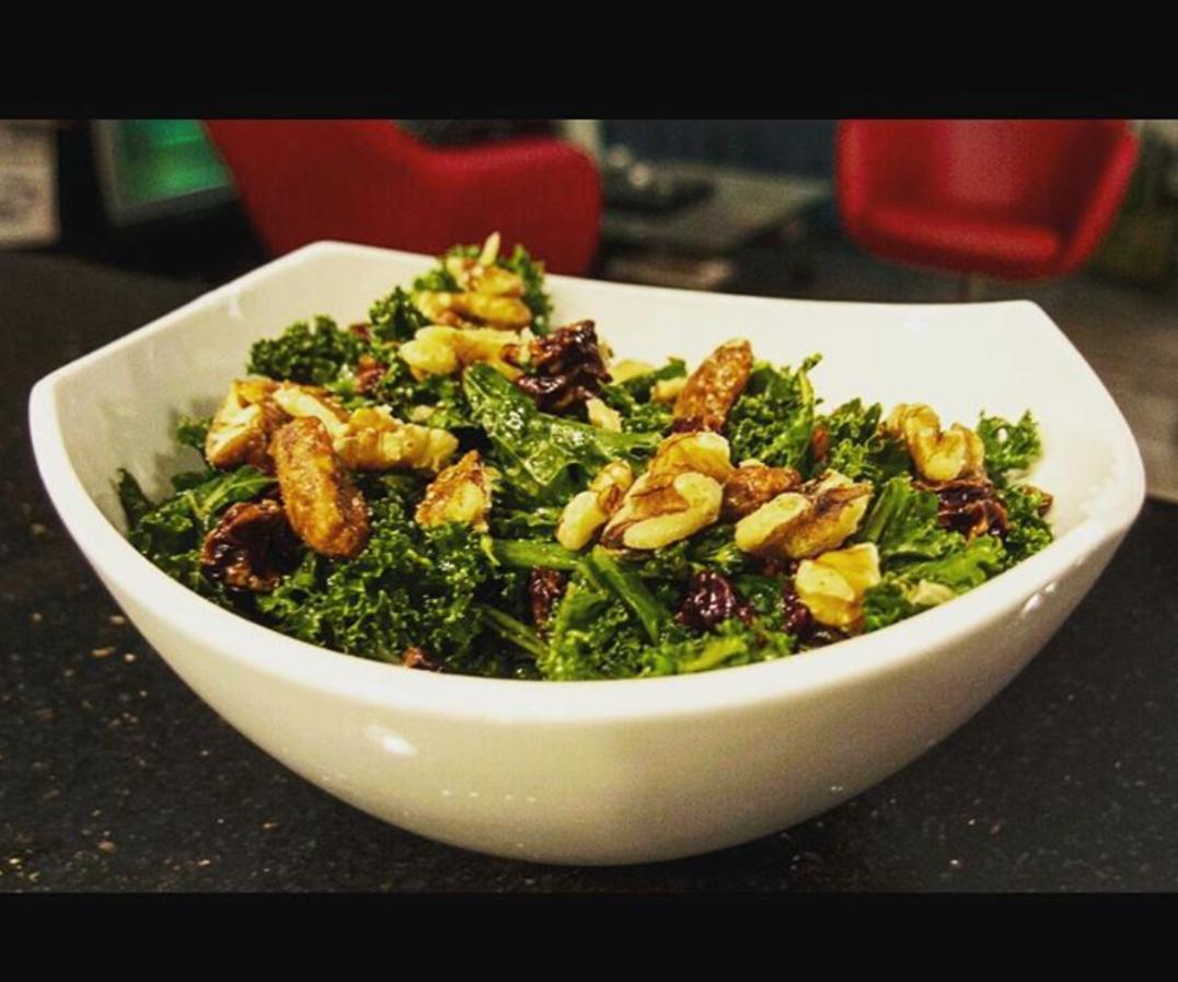 Kale & Broccolini Salad With Maple Vinaigrette Dressing
