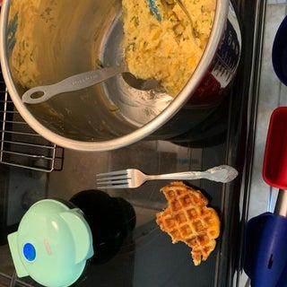 Cheesy Potato Waffles
