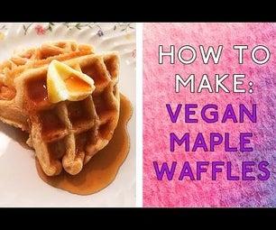 How to Make: Vegan Maple Waffles