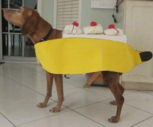 Make a Banana Split Dog Costume