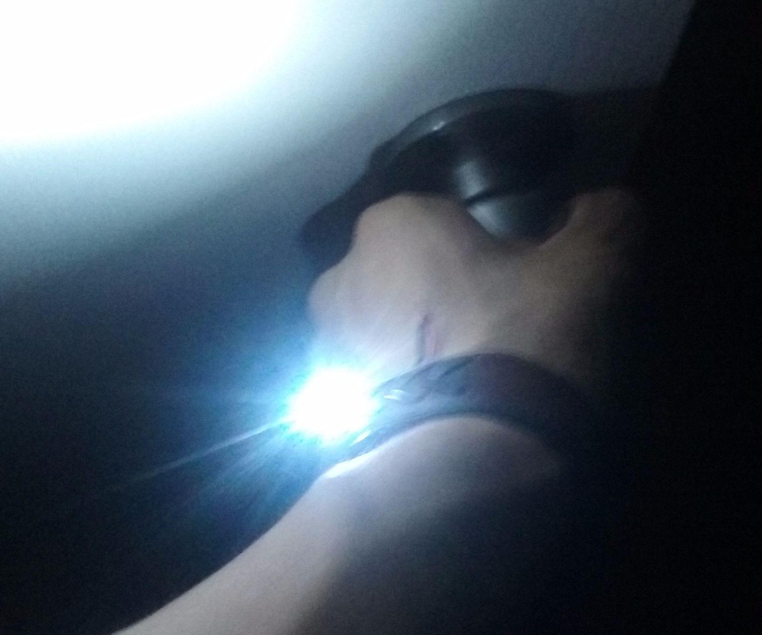 Magnetic Leather Flashlight Bracelet