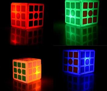 Easy Tilt-Based Color Changing Wireless Rubik's Cube Lamp