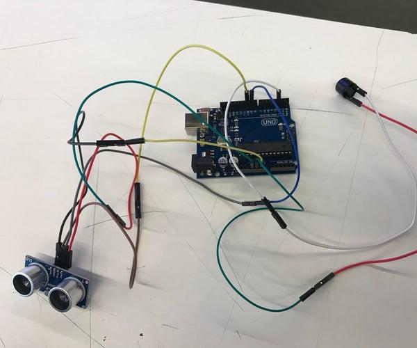 Distance Sensor With 5V Buzzer