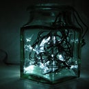 Star Jar Geiger counter triggered LED decoration (2012 remix)