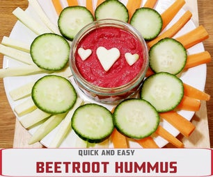 QUICK AND EASY BEETROOT HUMMUS
