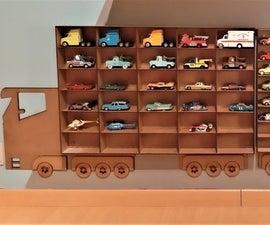 Lasercut Toy Car Shelves