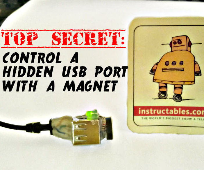 Top secret: Control a hidden usb port with a magnet!