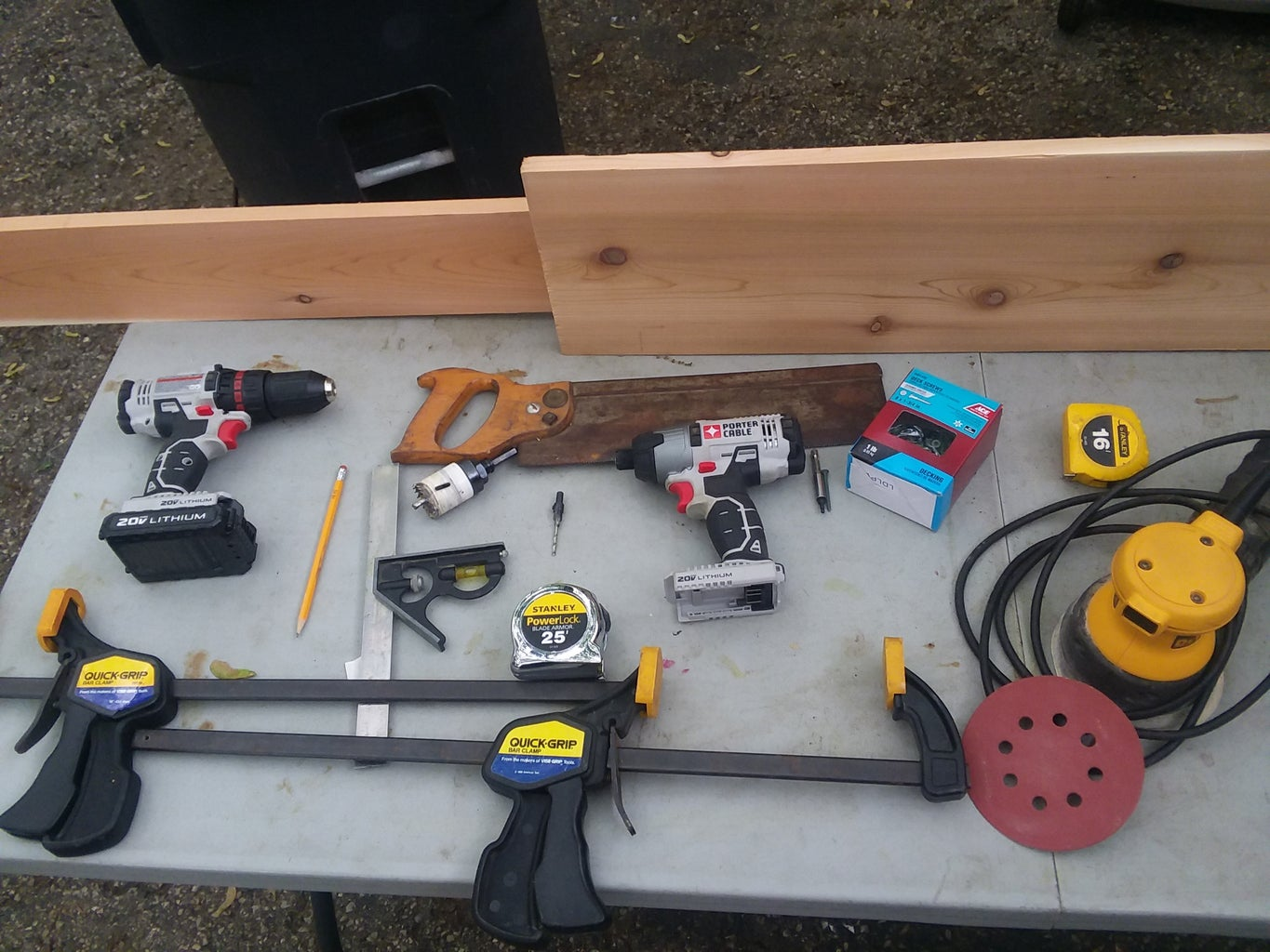 Preparations and Set Up (with Tools and Materials List)
