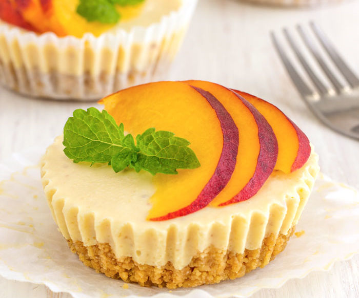 No Bake Peach Cheesecake Bites