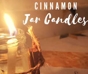 Mason Jar Cinnamon Candles